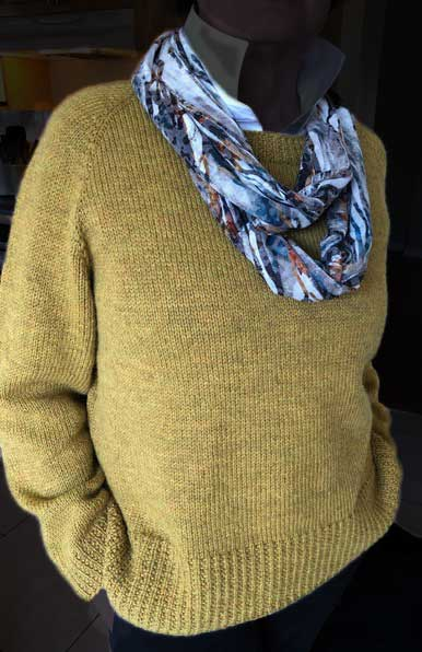 Knitted by Linda Jackson, member of the Needlecraft Interest group